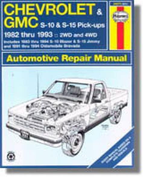 motor auto repair manual 1993 oldsmobile bravada parking system chevrolet s 10 pick up repair manual online from haynes html autos post