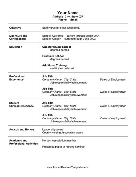 nursing resume templates for microsoft word simple microsoft word nursing resume cv template