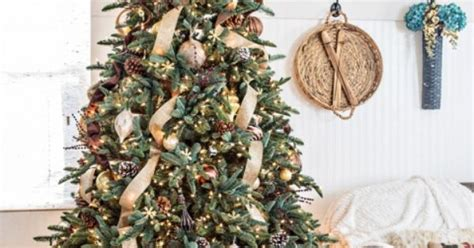 luxe mix in a bedroom rustic glam pinterest rustic luxe christmas tree a little rustic and a little