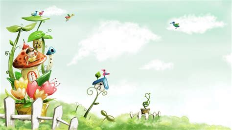 awesome home garden painting share on facebook imagefullycom cute spring backgrounds wallpaper cave