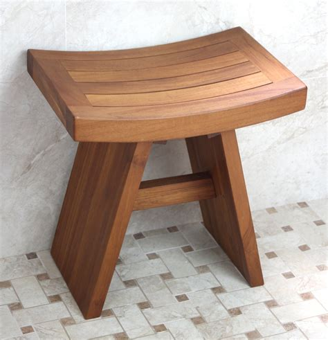 bathroom benches give your bath a luxury spa feel with a teak shower bench and floor mat teak patio