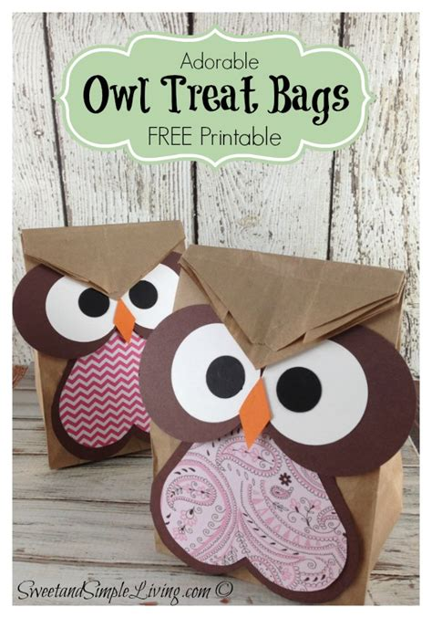 Owl Paper Bag Craft - free paper bag crafts