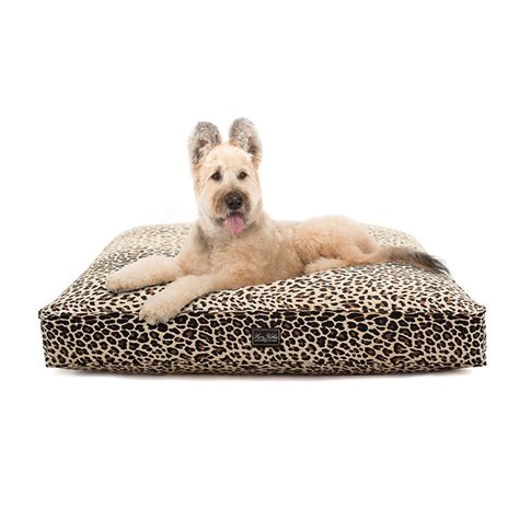 harry barker dog bed harry barker leopard cotton canvas dog bed shop