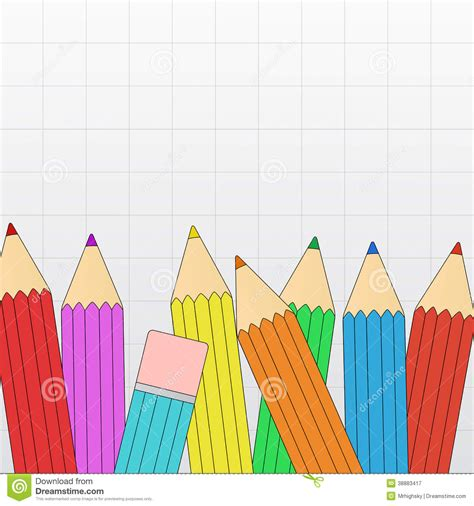 grid layout border color colored pencil border stock vector image 38883417