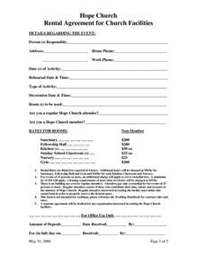 Facilities Rental Agreement Template by 10 Best Images Of Facility Rental Agreement Template