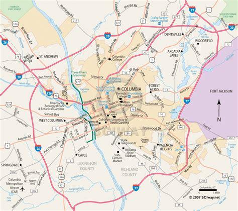 map of columbia south carolina columbia south carolina printable map