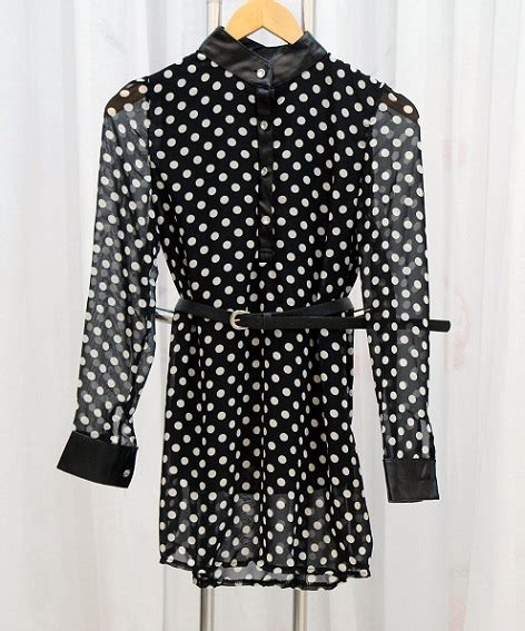 Feiya Dress Dot Hitam Putih Dress Korea Hitam Polkadot Terbaru Model Terbaru Jual
