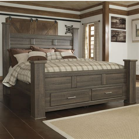 king post bedroom set signature design by ashley juararo transitional king