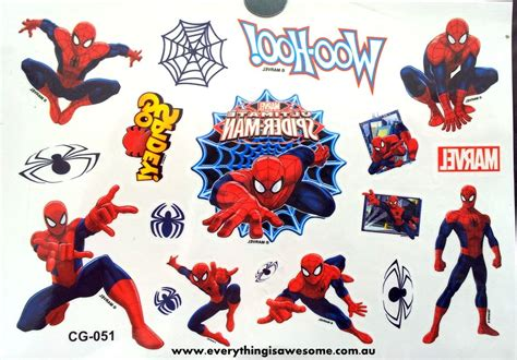 superhero temporary tattoos everything is awesome temporary