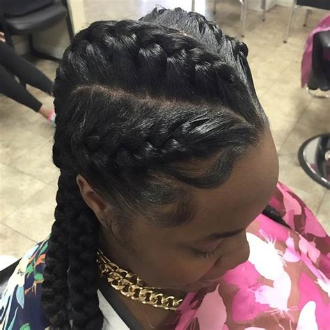 puctur of goddess braid with fishtail 31 goddess braids hairstyles for black women page 3 of 3