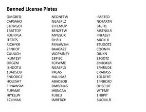ohio s banned vanity license plates list www