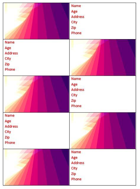 Word Address Book Template