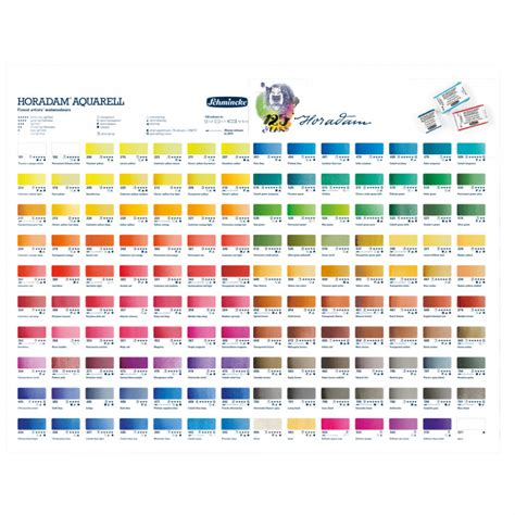 schmincke watercolor schmincke horadam watercolour printed colour chart