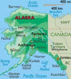 canada and alaska map maps of alaska and canada