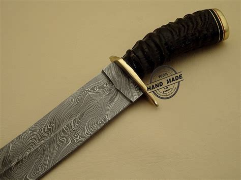 Handmade Bowie Knife - new damascus bowie knife custom handmade damascus steel
