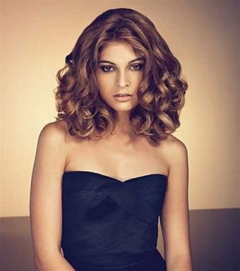 medium length hairstyles for wavy hair 35 medium length curly hair styles hairstyles haircuts 2016 2017
