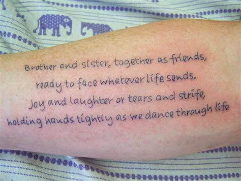 sibling tattoos brother and sister lovely collection of and quotes