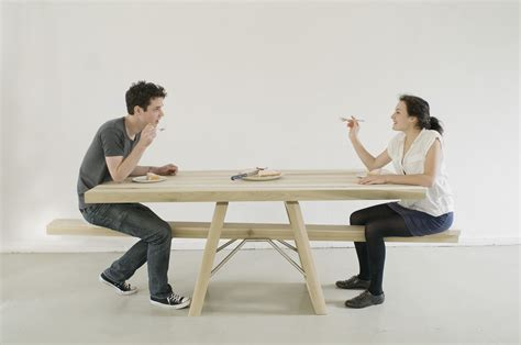eating bench courtesytable a wooden picnic style table with novel