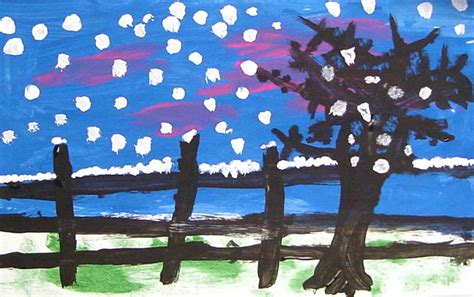 Landscape Ks1 Brush Winter Painting Projects For