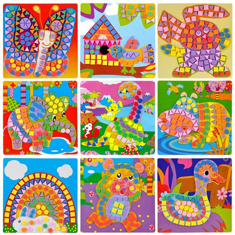 arts crafts 1 841586700x 3d puzzle stickers art crafts toy for new year gift kids mosaic creative game arts puzzle