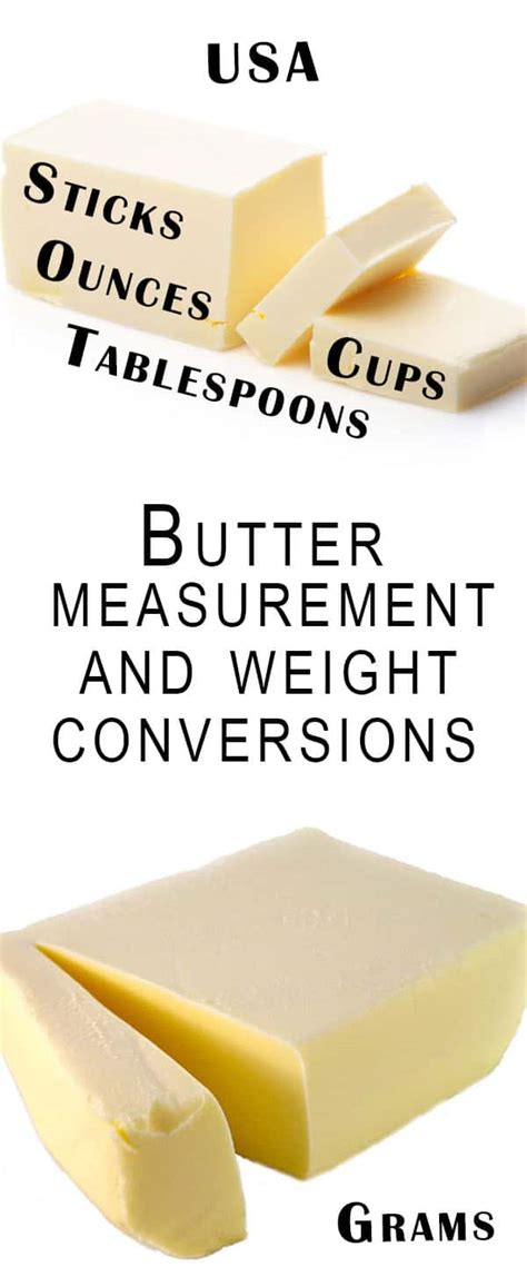 butter measurement and weight conversions erren s kitchen