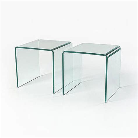 small glass side table glass side tables set of 2 in stock abode interiors