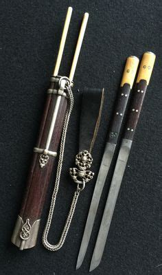 Mongol Steel 19th c mongolian knife set silver steel knife