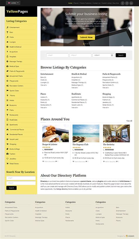 Finder Yellow Pages Yellow Pages Directory Theme