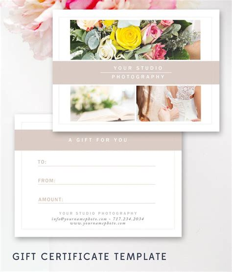 Gift Cards For Photographers - best 25 gift certificate templates ideas on pinterest gift certificates free gift