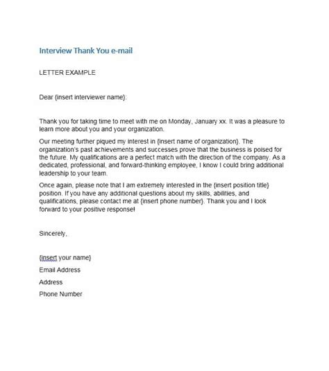 thank you letter after template email thank you letter after email or mail letters font