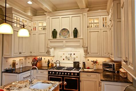 stacked kitchen cabinets in a white and grey kitchen one home made