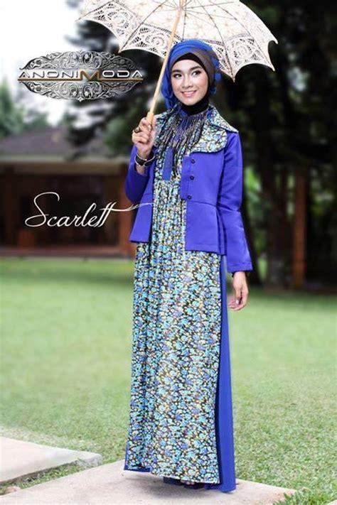 Dress Bordir Flower Hitam Size M L Import 13030 busana muslim koleksi terbaru