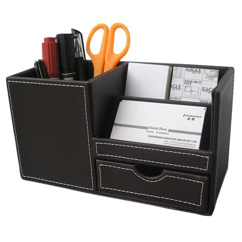 pen organizer leather desk multi function stationery organizer pen