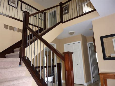 modern banisters for stairs wooden modern stair railings various materials for