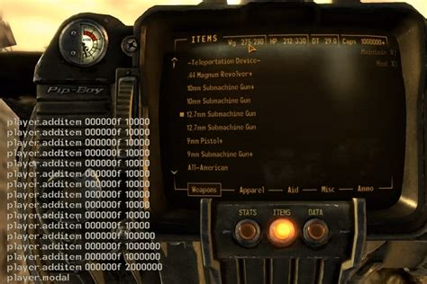 console commands for new vegas console commands can ruin your of fallout 4