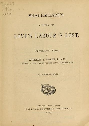 themes of love s labour s lost shakespeare s comedy of love s labour s lost 1899 edition