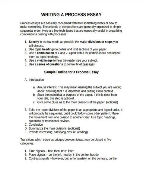 Process Essay by Process Essay Introduction Exles Of Thesis Statements