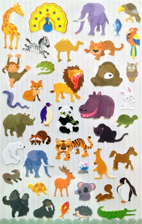 Animal Stickers 153 best images about zoo animals stickers on