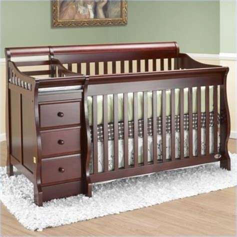 cribs with changing tables attached crib with attached changing table shelby