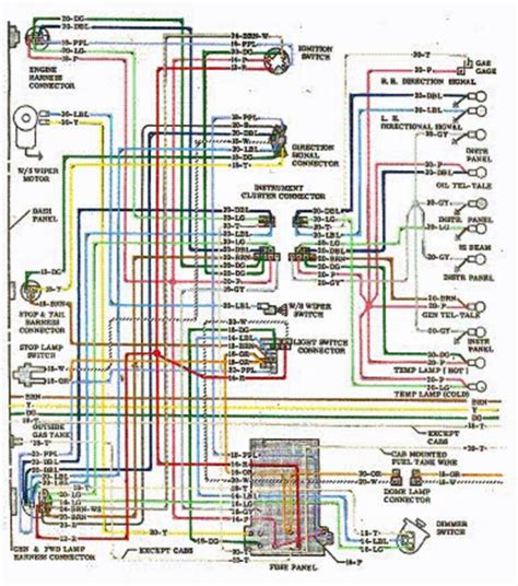 1970 chevy chevelle wiring diagram 1966 chevy chevelle