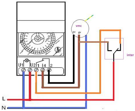 branchement interrupteur horaire schneider