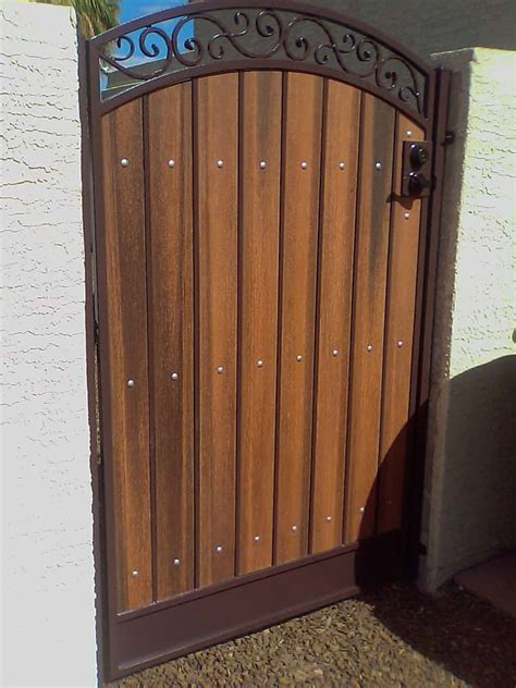 wood and wrought iron wrought iron wood gates www pixshark com images