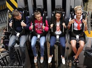 theme park hairstyles is michelle keegan sending a message to max george with