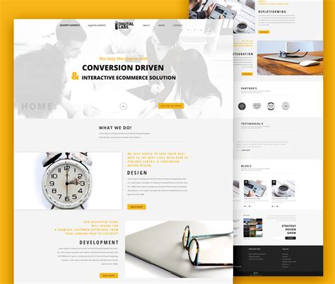 Digital Agency Website Template Psd At Downloadfreepsd Com Digital Agency Website Templates
