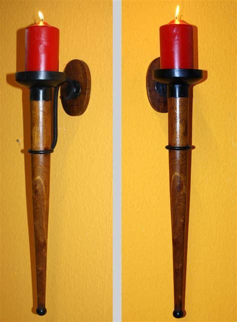 wandkerzenhalter holz wandkerzenhalter kerzenhalter wandhalter kerze antik fakel