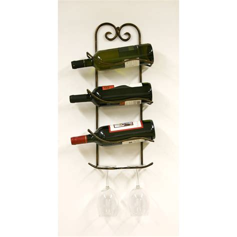 Wine Bottle Rack by Wine Rack With Glass Holder Decofurnish