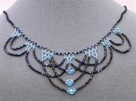 bead jewelry patterns you to see lace beadwoven necklace on craftsy