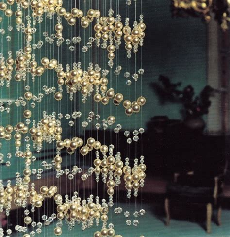 Pearl And Crystal Beaded Curtain Crystal Curtains And