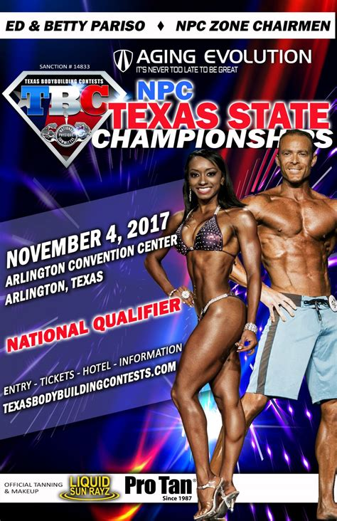 Sponsorship Letter Bodybuilding 2017 State Flyer National Physique Committee