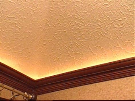 ceiling wood trim how to mount crown molding to a tray ceiling hgtv